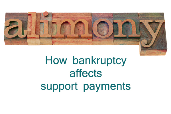 bankruptcy and support payments | child support | alimony