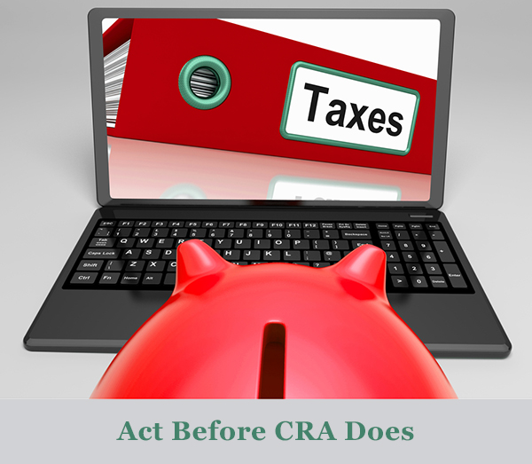 file tax returns tax debts CRA