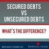 treatment of secured and unsecured debt in bankruptcy in Canada