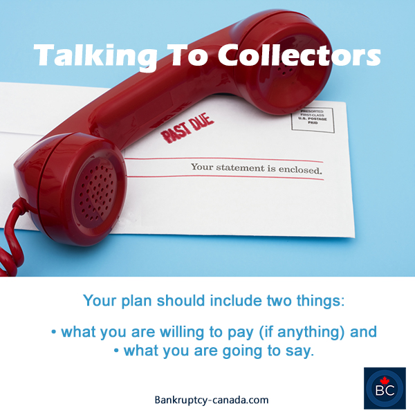 talking to collectors and creditors