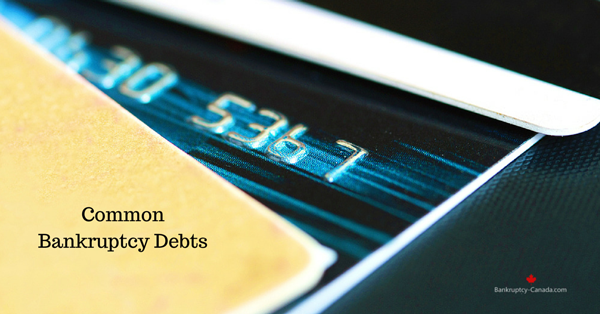 debts included in bankruptcy